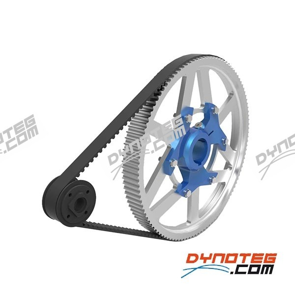Dynoteg tooth belt pulley kit for Dynoteg kart engine dyno