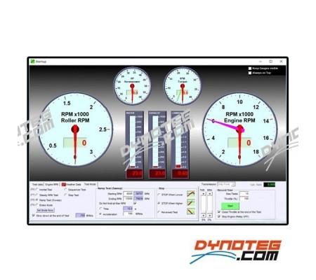 Sportdevices chassis dyno elektronics Sportdyno software dashboard