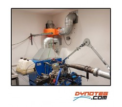 dynoteg kart engine dyno exhaust gas extraction system