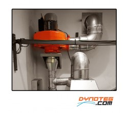 exhaust gas extraction system karting
