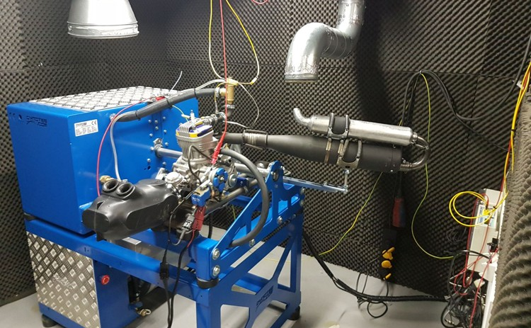 Kart engine dyno test room example at a customer