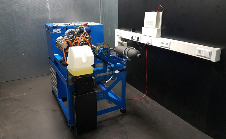 Kart engine dyno Dynoteg KED-5 EVO in ISO container